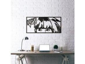 Comic Wall Sculpture 2D