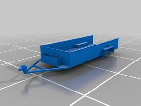 1:6 SCALE CAPTURE CAGE/UTILITY TRAILER W/WORKING TOOL BOX AND TAIL GATE