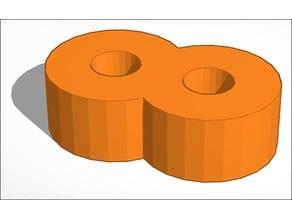 1.75 mm filament figure 8 clip