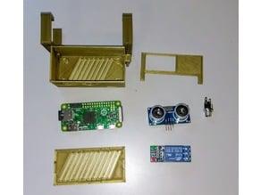 Case for Raspberry Pi Zero, HC-SR-04 and relay