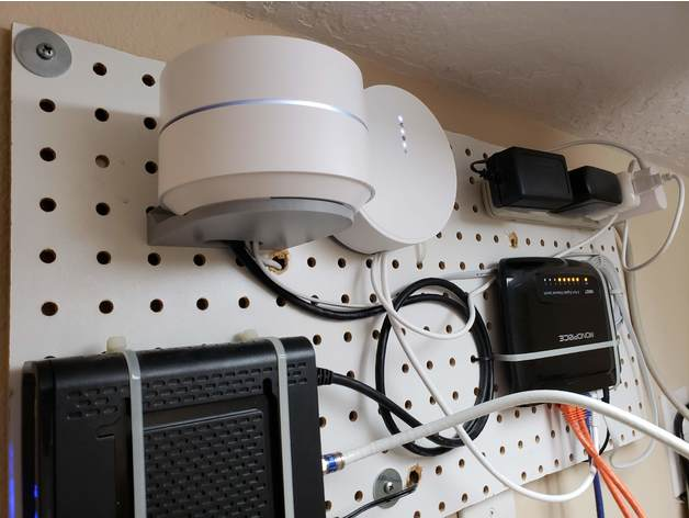 Google Wifi Shelf Peg Board Mount By Nfkraemer Thingiverse