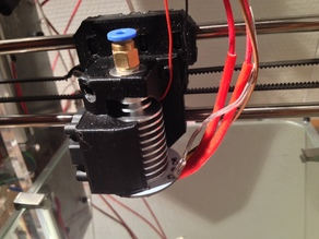 Slim Bowden E3D v5 mount for Prusa i3 with fan shroud and LED ring