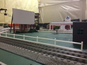 O Scale Picket Fence