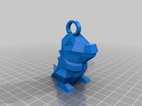 Low Poly Totodile Keychain