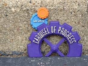 Carousel Of Progress Miniature Signage