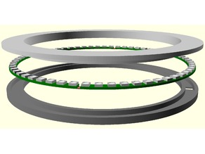 Adjustable 60 WS2812 LED ring / circle / clock holder
