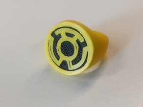 Yellow Lantern Ring for Dual Extrusion