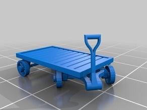 Model Trolley 4 wheel 00 / 009 scale railway