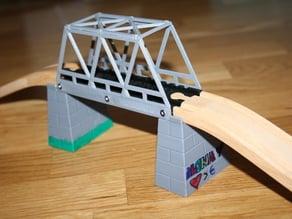 Train track bridge