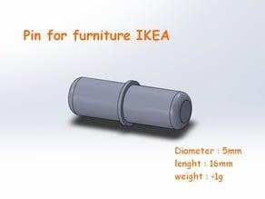 Pin for furniture IKEA (EN/FR)