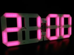 ws2812b LED wall and desktop clock (144LEDs/m 5LEDs/segment)