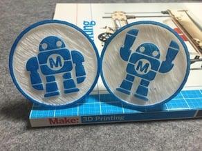 Maker faire robot (stamp)