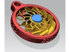 Portachiavi, Ciondolo, Girante/turbofan - Pendant , keychain impeller/turbofan