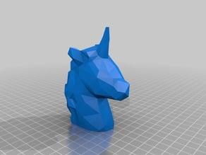Unicorn - Low Poly / Voronoi