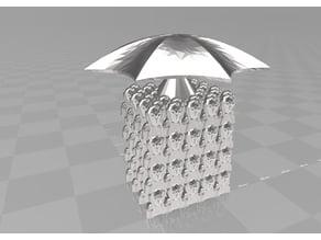 the umbrella scream cube