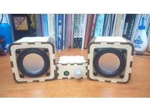 Laser Cut Wooden Speaker System