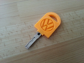 Vehicle Key Bow Replacement + Volkswagen Logo + Hole for Transponder