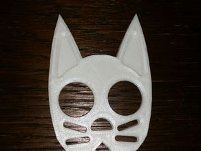 Cat Self Defense Keychain Ears filled