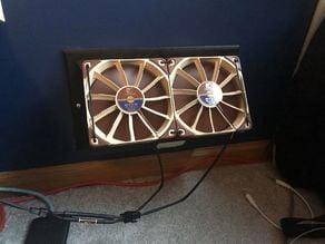HVAC Register Booster - 120mm fan