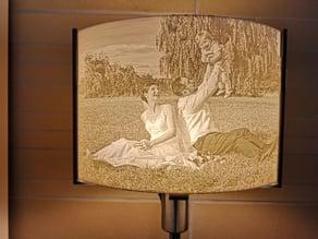 Lithophan Lampenhalter für Fotos: 3:2 / 4:3 Fassungen: E14 / E27