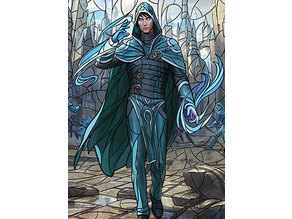 Jace, Wielder of Mysteries - stained glass - litho
