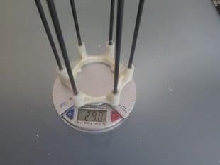 Carbon fibre test space frame
