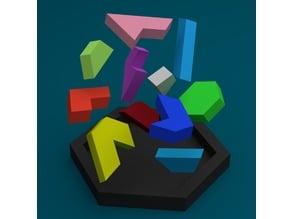 Hexagon tangram puzzle