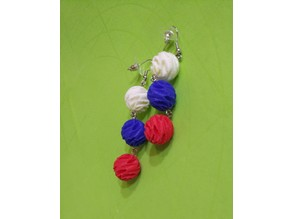 Earrings №3 Tricolor