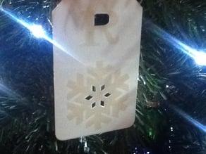 Embossed Snowflake Gift Tag - Monogram