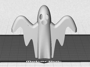 Ghost (hollow) - Print in White, Natural or Glow-in-the-Dark PLA