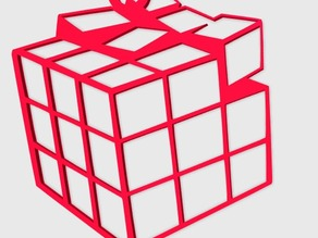 Rubik's Cube Broken Pendant