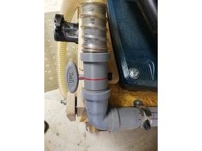 Drosselklappe für 40mm HT Kunststoffrohr / Staubabsaugung