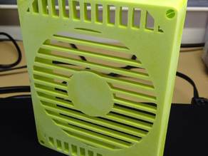 Futher Modifed Lulzbot AO-101 Enclosure lid with room for a 120mm fan
