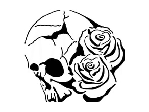 Skull Rose stencil