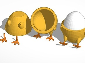 Standing/Sitting Chick Egg Cup