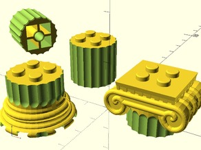 Ancient Greek Ionic Column as LEGO Brick