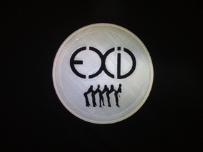 EXID coaster