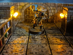 LED Pillar for 28mm Tabletop (Compatible with OpenForge2.0)