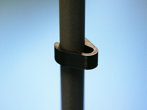 Mic stand cable clip - customizable