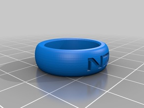 Mass Effect N7 Simple Ring