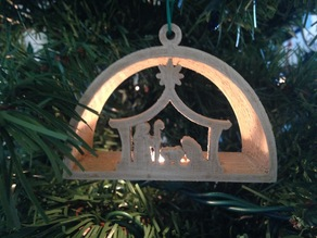 Nativity Manger Ornament