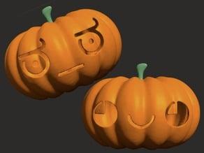 Kaomoji Halloween Pumpkin