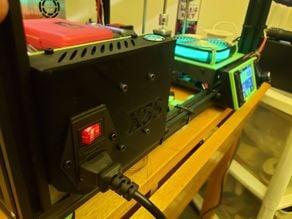 LERDGE Power Monitoring Module, plug, and button mount for TronXY X5S