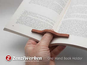 One Hand Book Holder cnc/laser