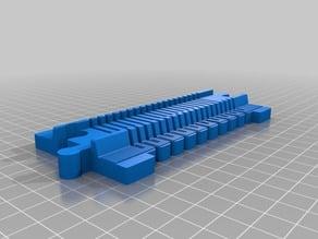 LEGO Duplo Train Track flexible straight (no support)