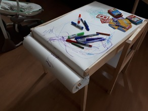 Kids drawing table paper holder