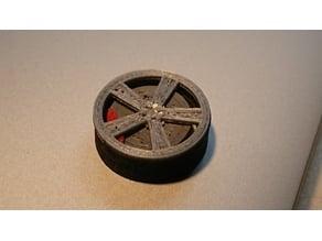 Car wheel designed for 3d printing