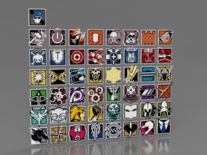 Rainbow Six Siege Icons - All of Them...