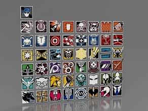 Rainbow Six Siege Icons - All of Them...