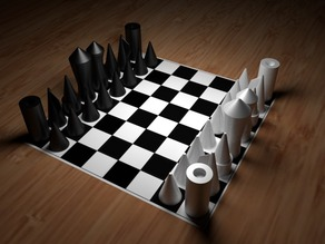 puristic chess-set, easy to print